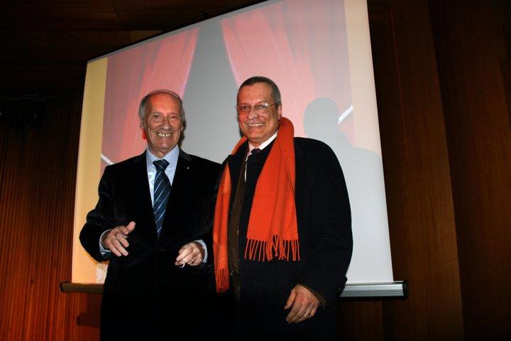 Alberto Freddi e Pace Claudio dopo la conferenza su Libero Liberati