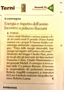 etica energie rinnovabili corriere dell'Umbria