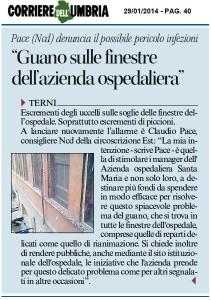 Guano Corriere Umbria 29 Gennaio 2014