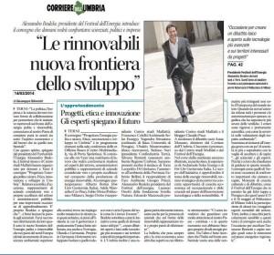 Progettare Energia Pulita Corriere dell'Umbra 13 03 2014