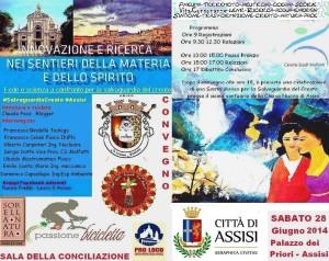 Confronto Fede Scienza Locandina-convegno assisi 28 giugno-2014
