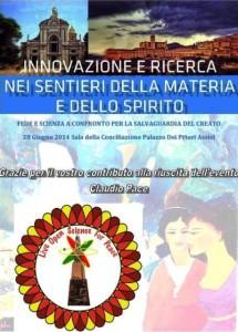 Convegno Innovazione Ricerca Ringraziamenti per l'evento di Assisi del 28 Guigno