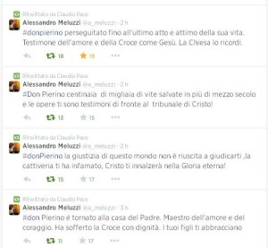 Don Pierino Gelmini twitt Meluzzi